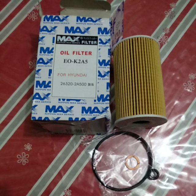 MAX Oil Filter Hyundai Accent 2009-2017 CRDI Diesel | Shopee