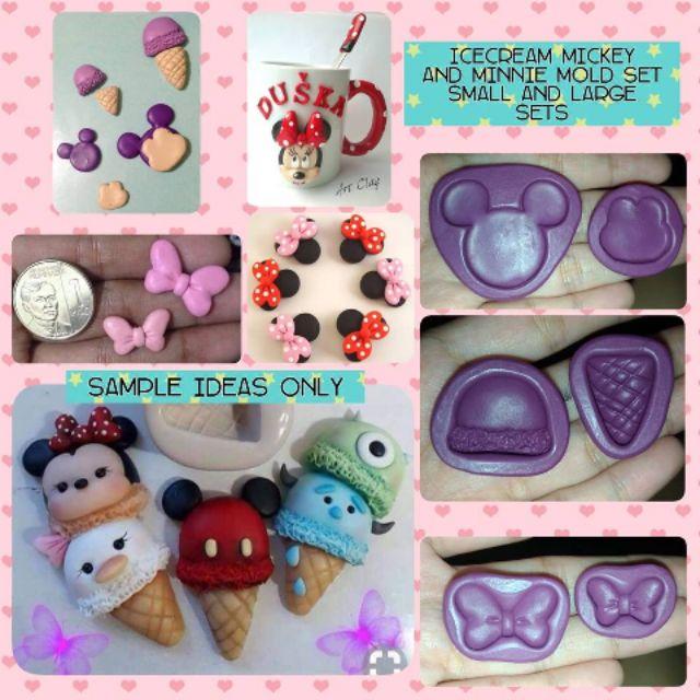 Mickey minnie icecream mold sets