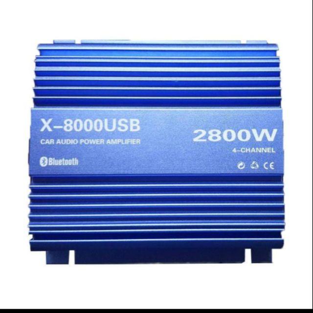 CAR AMPLIFIER X-8000USB 2,800 WATTS