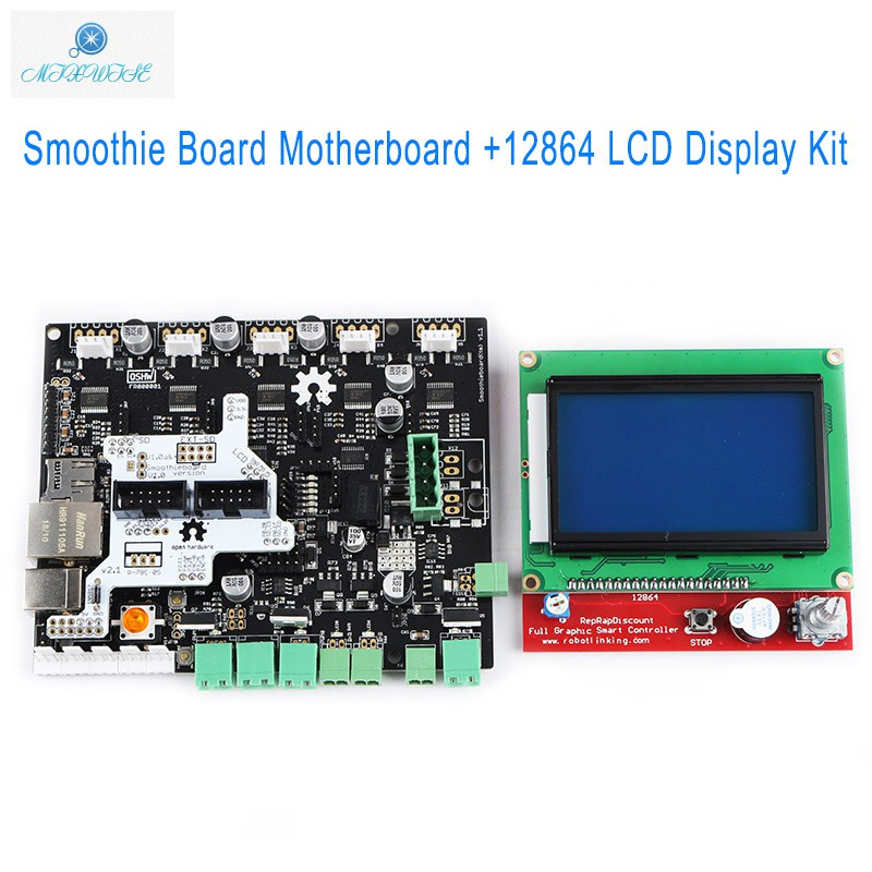 Smoothie Board 5X V1 1+12864 LCD Display Screen Kit for 3D Printer
