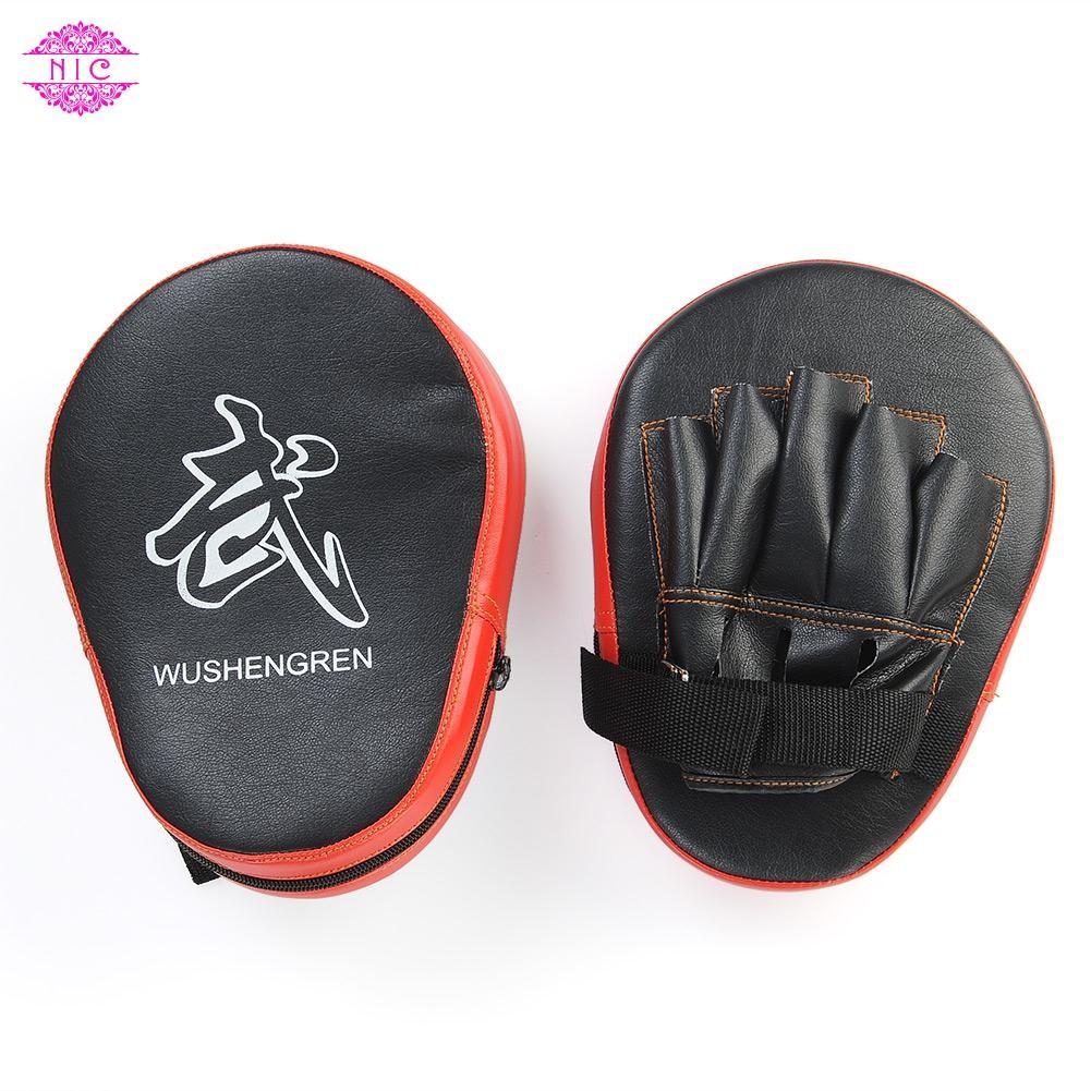1X  Target Punch Pad Boxing Mitt Training Glove Karate Thai Kick HOT