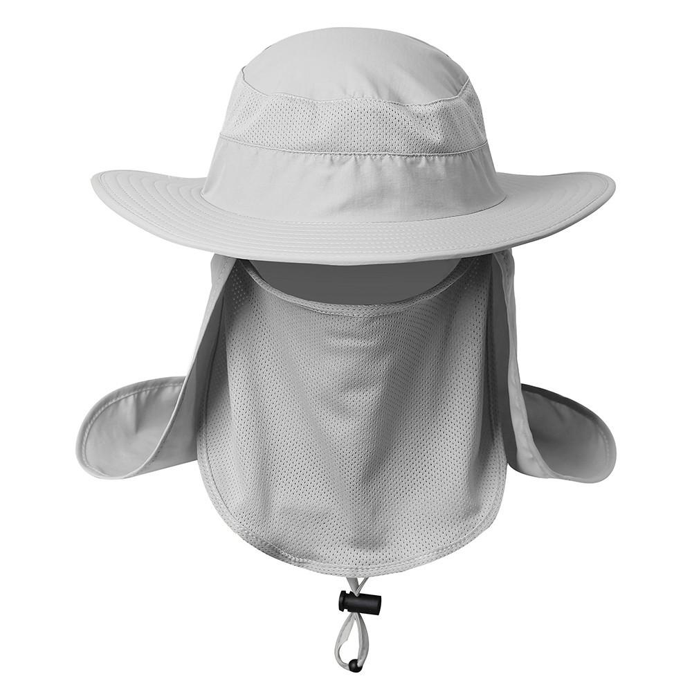 5f33b150 Unisex Wide Brim Hat Fishing 360° Sun UV protection Cap   Shopee Philippines
