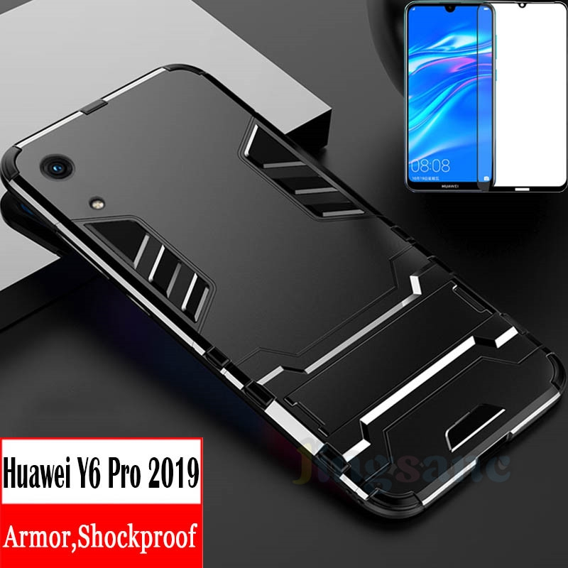 Huawei Y6 Pro 2019 Case Soft TPU Hard Phone 2IN1 Stand Cover