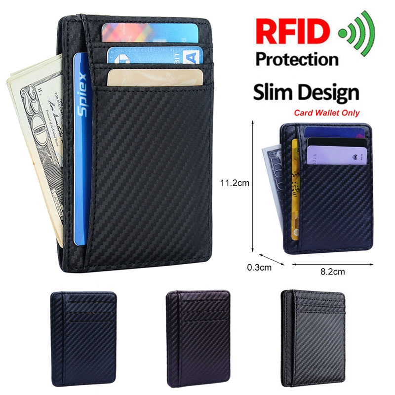6b7752f7041e Men's Blocking Slim Wallet Money Clip Credit Card Holder