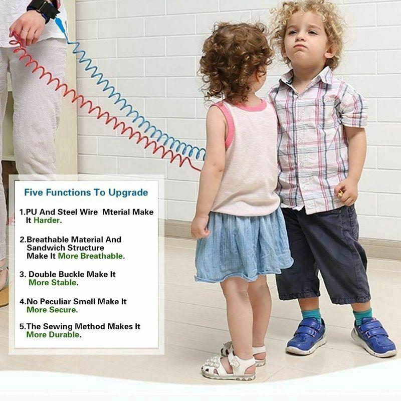 1//2//2.5M Baby Kids Safety Harness Hand Belt Anti-lost Walking Strap Wrist Leash