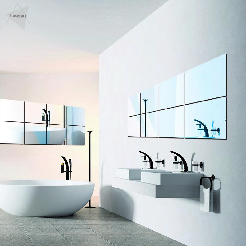 Brand New Mirror Household 16pcs Self, How To Remove Self Adhesive Mirror From Wall