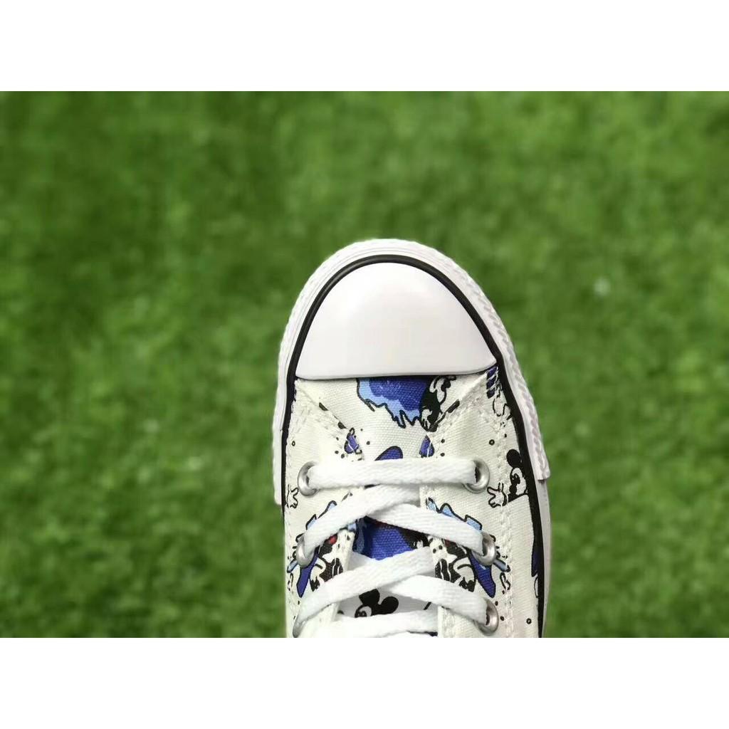 Converse Disney Mickey Mouse cartoon high top canvas shoes
