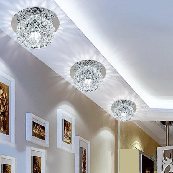 Modern Crystal 5W LED Ceiling Light Fixture Pendant Lamp Lighting Chandelier NEW