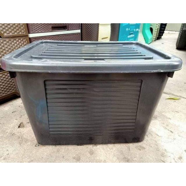 STORAGE BOX master box 126L Black color.
