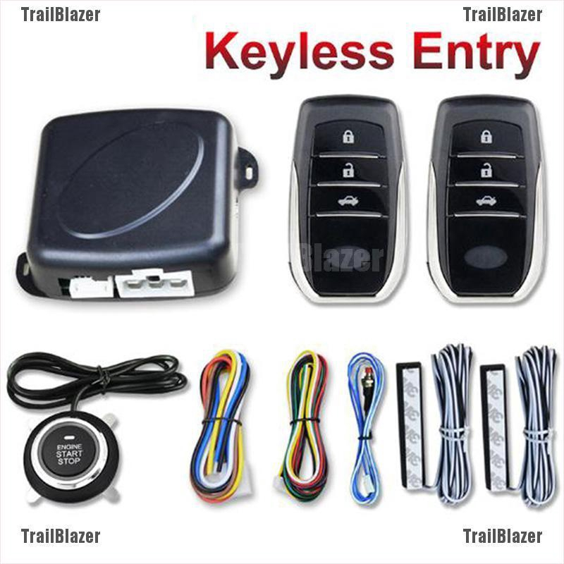 TBPH Car PKE Keyless Entry Engine Start Stop Auto Remote Push Button Alarm  Syste wholesale