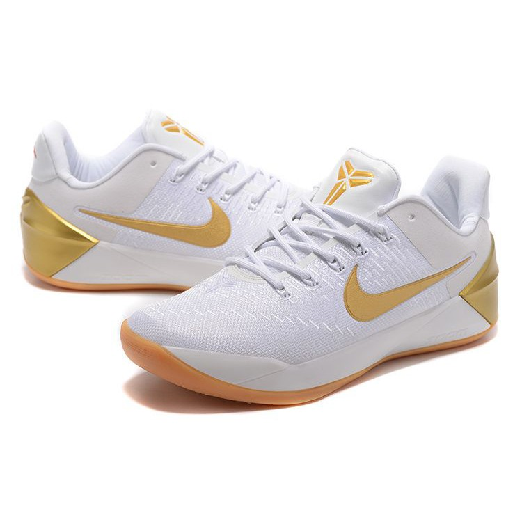 Nike Kobe Ad White Gold Mens Basketball Sports Shoes Shopee Philippines