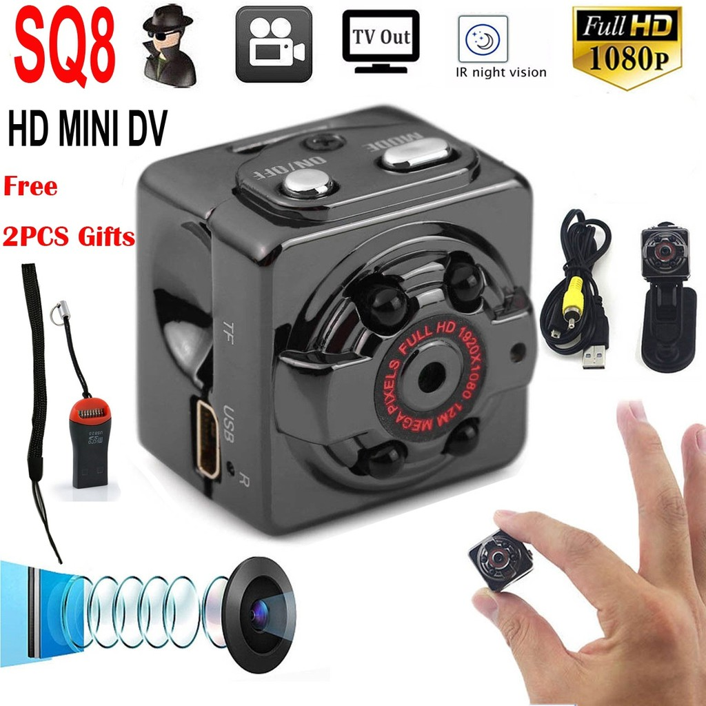 Mini Car DVR Camera Portable Spy Hidden Recorder Night Vision HD 1080P TV Out