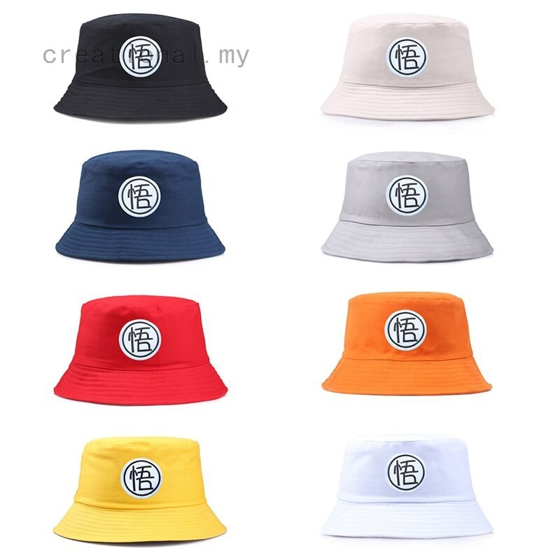 8f5125b12 Summer Dragon Ball Letter Embroidery Bucket Casual Hats Unisex For Travel