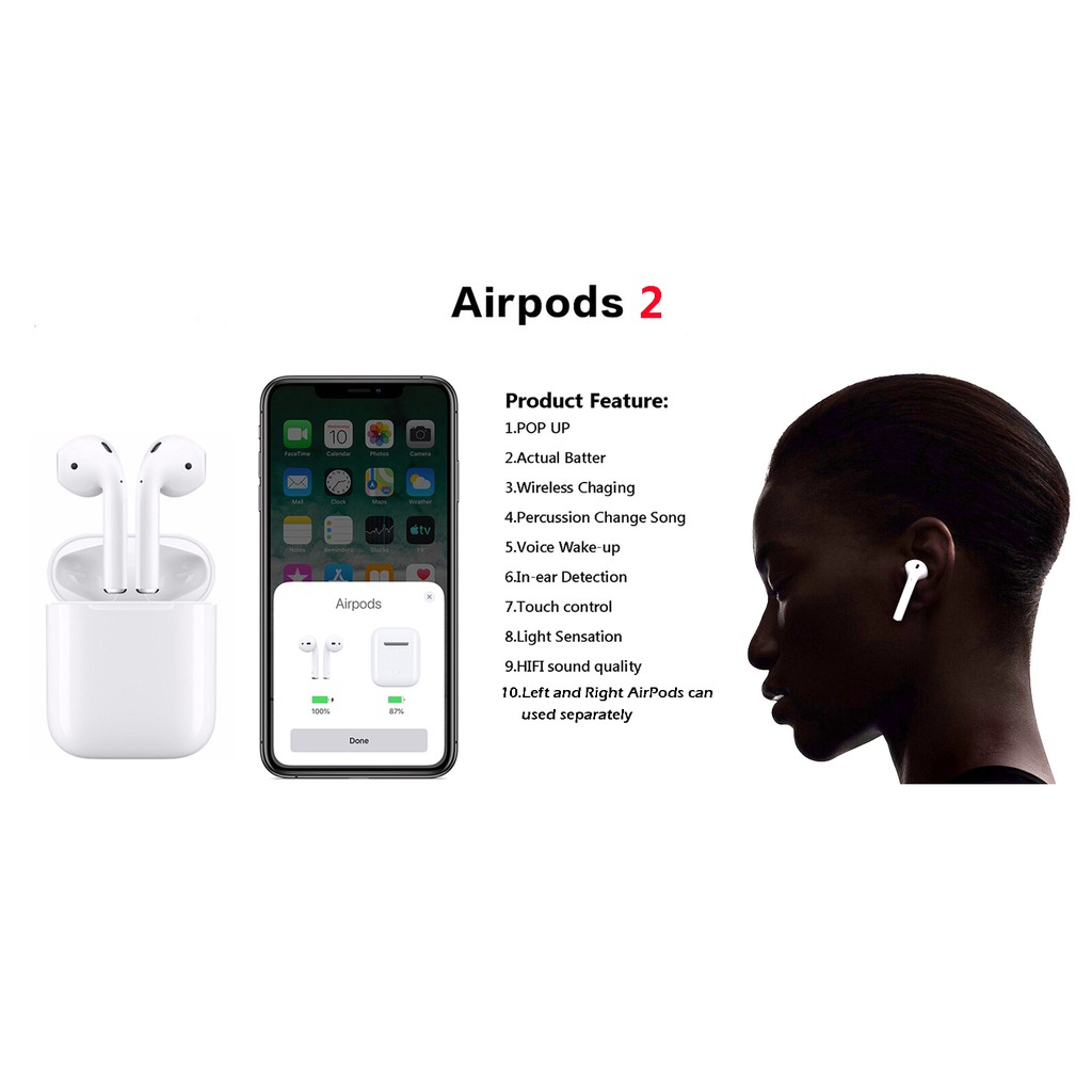 Cod Original 100 Airpods 2 In Ear Detection Pop Up Window Touch