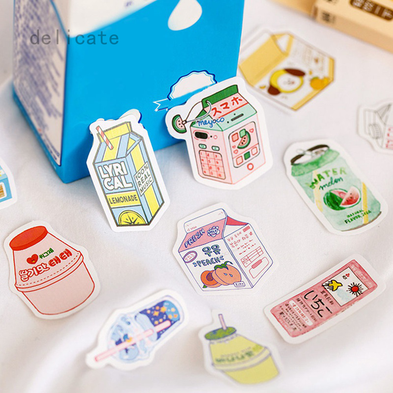 coffee shop Sticker Sealing Label Boxed Stickers 45 pieces\box