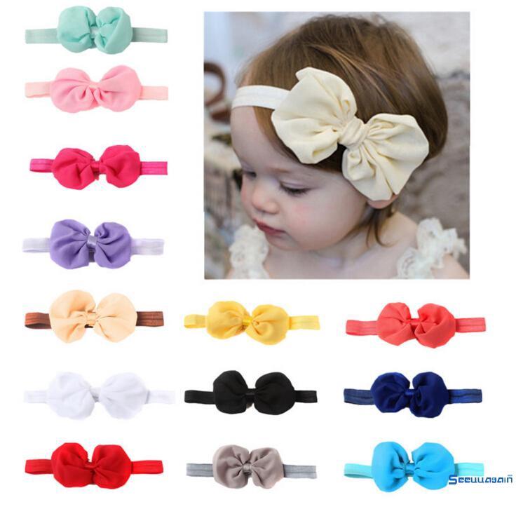 39005547ee126 ♀Baby Headband Hairband Soft Elastic Baby Headbands