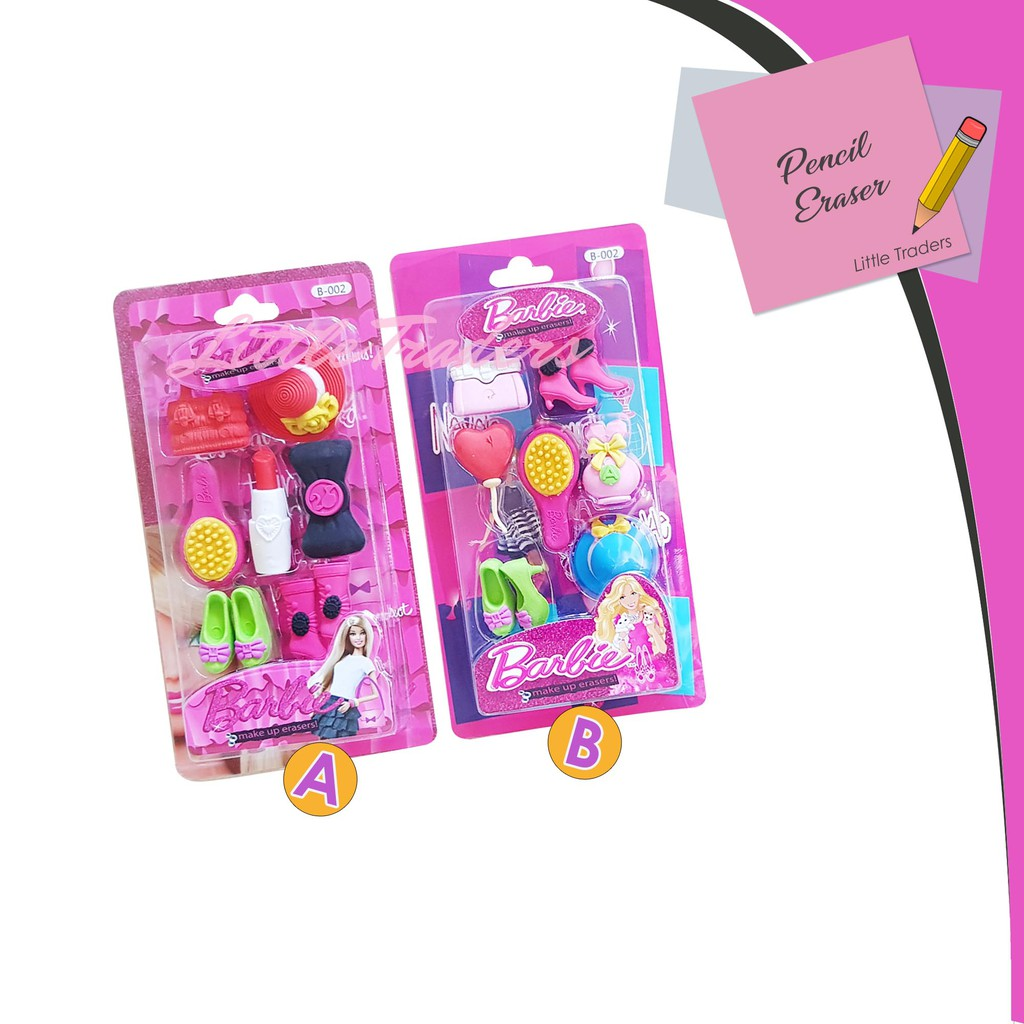Barbie Pencil and Eraser Set