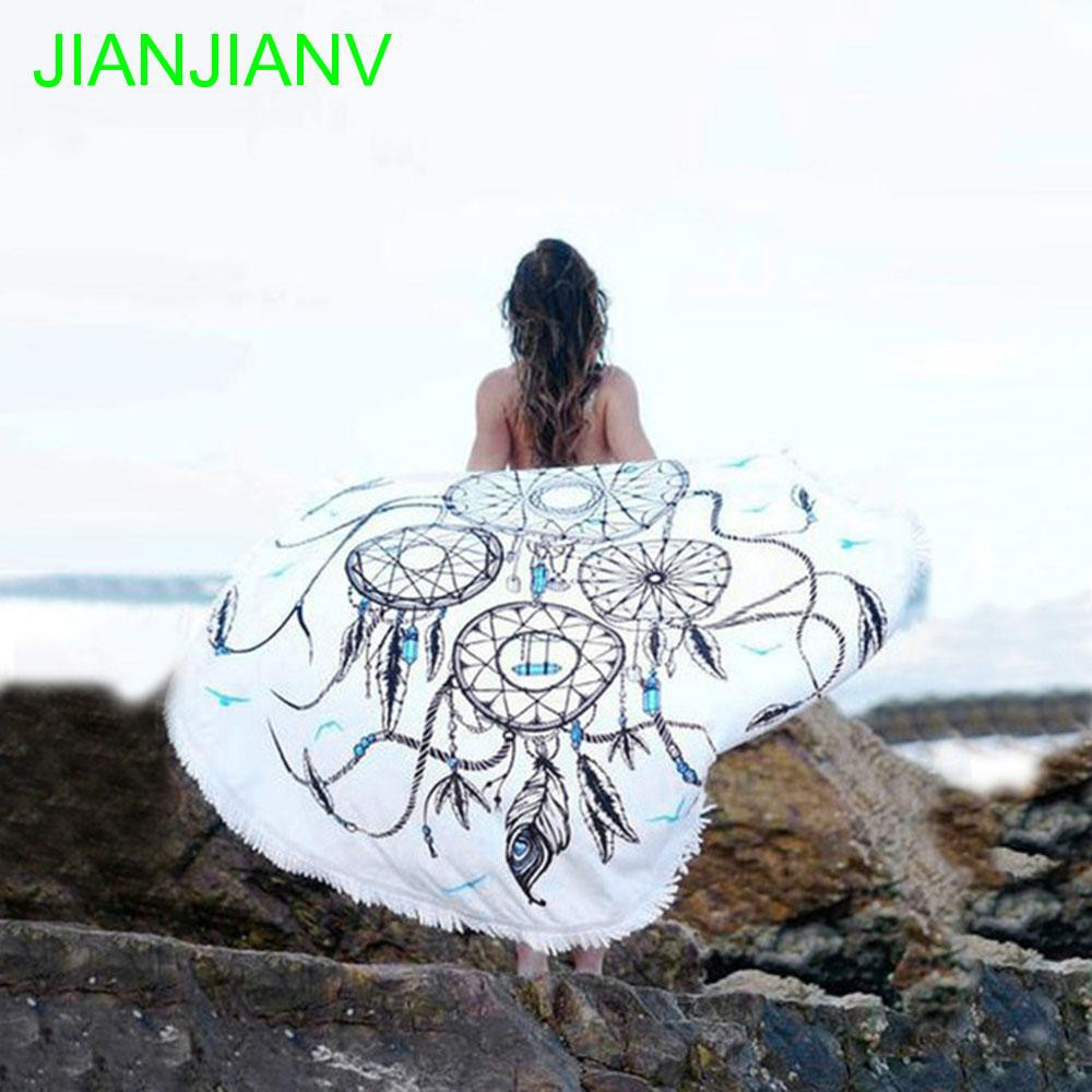 Shantou Round Beach Towels Microfiber Good Water Absorption Towels For Living Room Home Decor Swimsuit Wrap Skirt Shawl Aprons Bbq