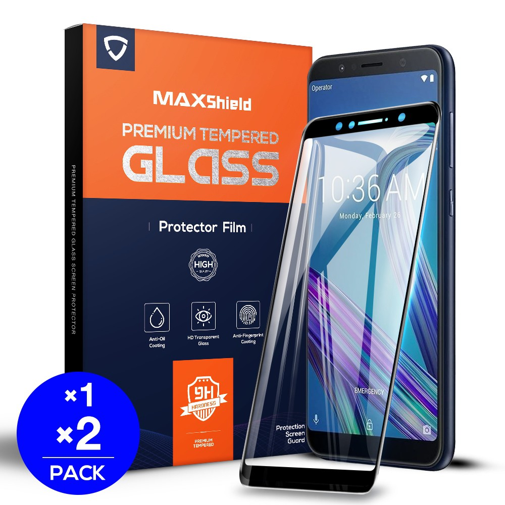 FullCover Asus ZB602KL ROG phone 2 9D Tempered Glass FullCover Screen  Protector MAXSHIELD