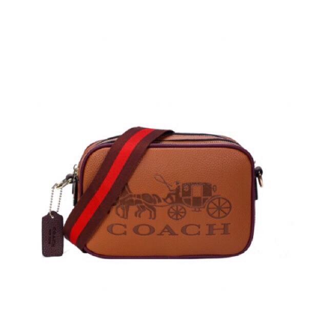 AMK COACH DOUBLE ZIPPER MINI SLING BAG