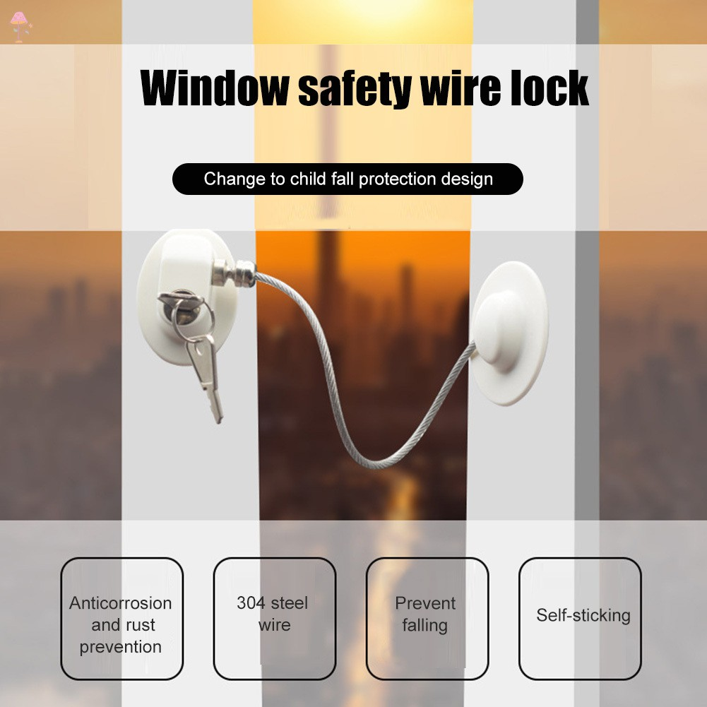 Drawer Child Safety Lock,Childrens Window Refrigerator Safety Limit Lock Suitable For Door Closet Trash With Stainless Steel Keys Fridge Refrigerator