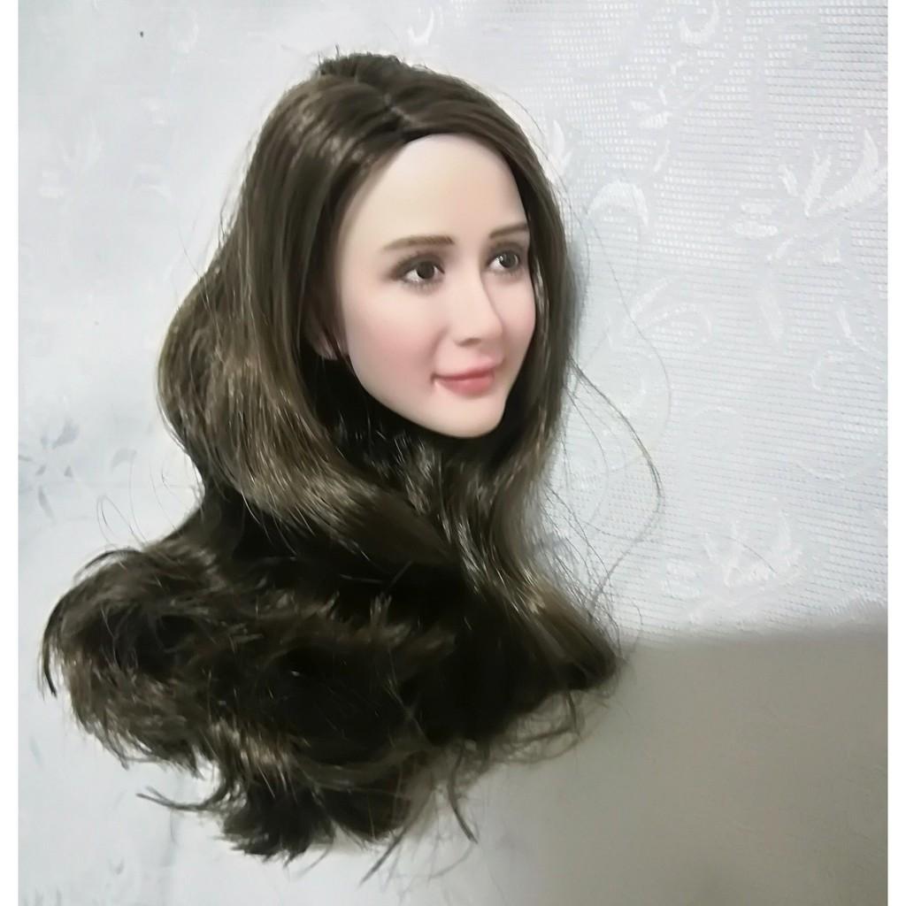 "1//6 Asian Black Long Hair Female Head Sculpt F 12/"" TBLeague PHICEN Figure Body"