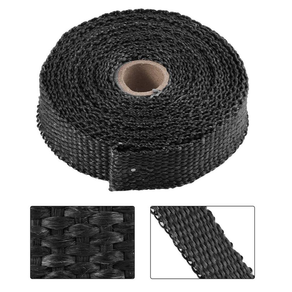 5m Car Motorcycle Insulation Thermal Exhaust Tape Pipe Wrap Heat Resistant Blue