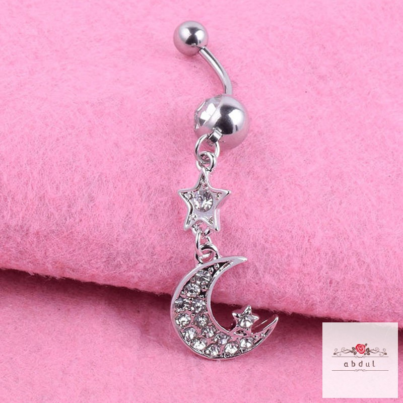 Hawaiian Plumeria Flower 316L Surgical Steel Belly Button Ring