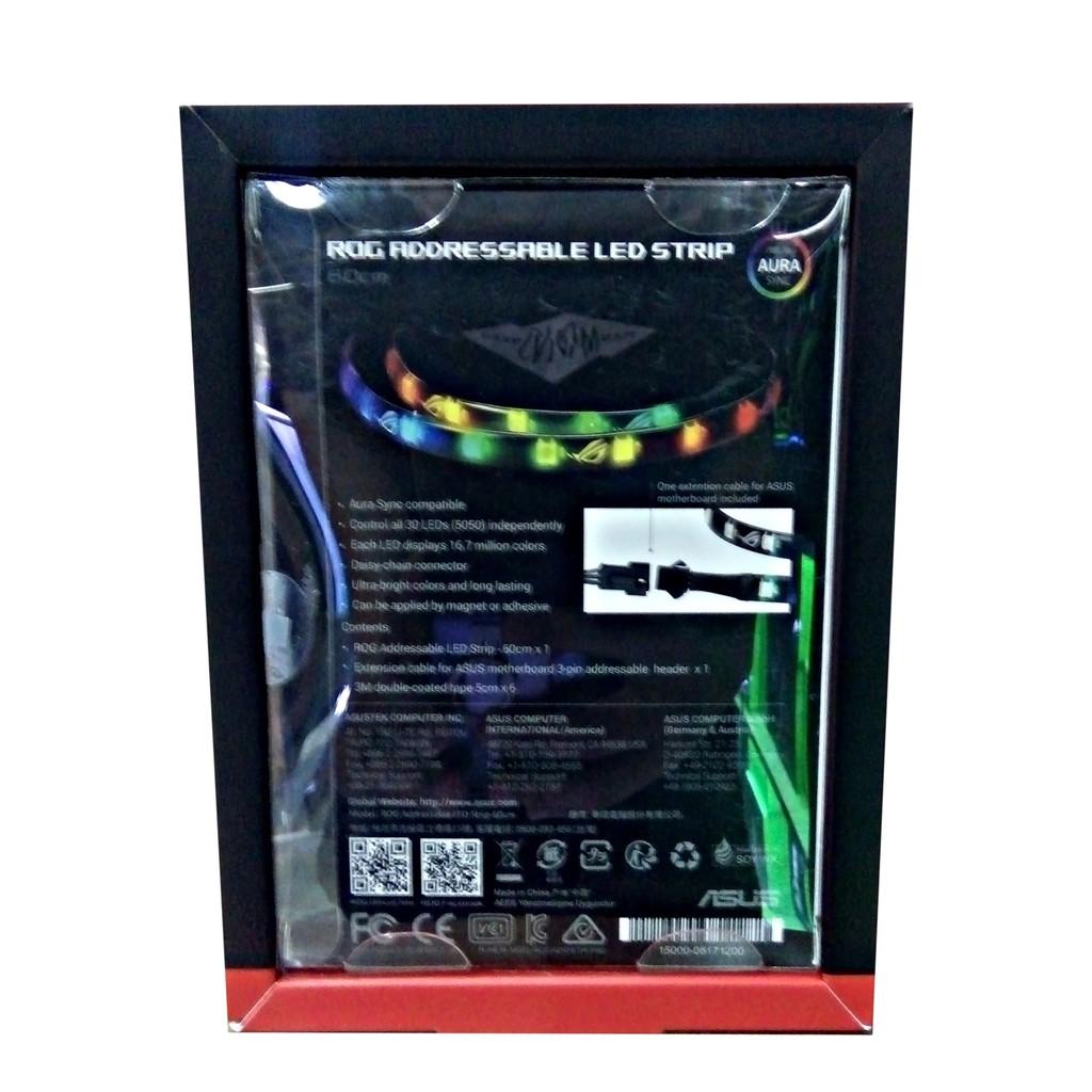 Asus ROG Addressable RGB LED Strip Aura Sync - 60cm | Shopee