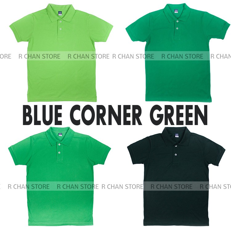 Blue Corner Polo For Men Green Shade Shopee Philippines