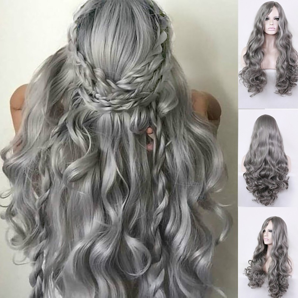 Party Wigs Long Curly Hair Mixed Colors