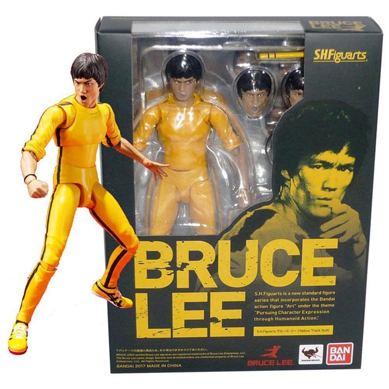 S.H.Figuarts Bruce Lee Yellow Track Suit Action Figure New in box