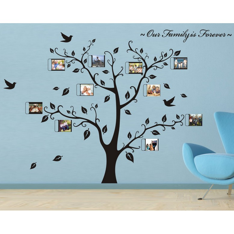 wall sticker family photo frame tree living room wall decal | shopee