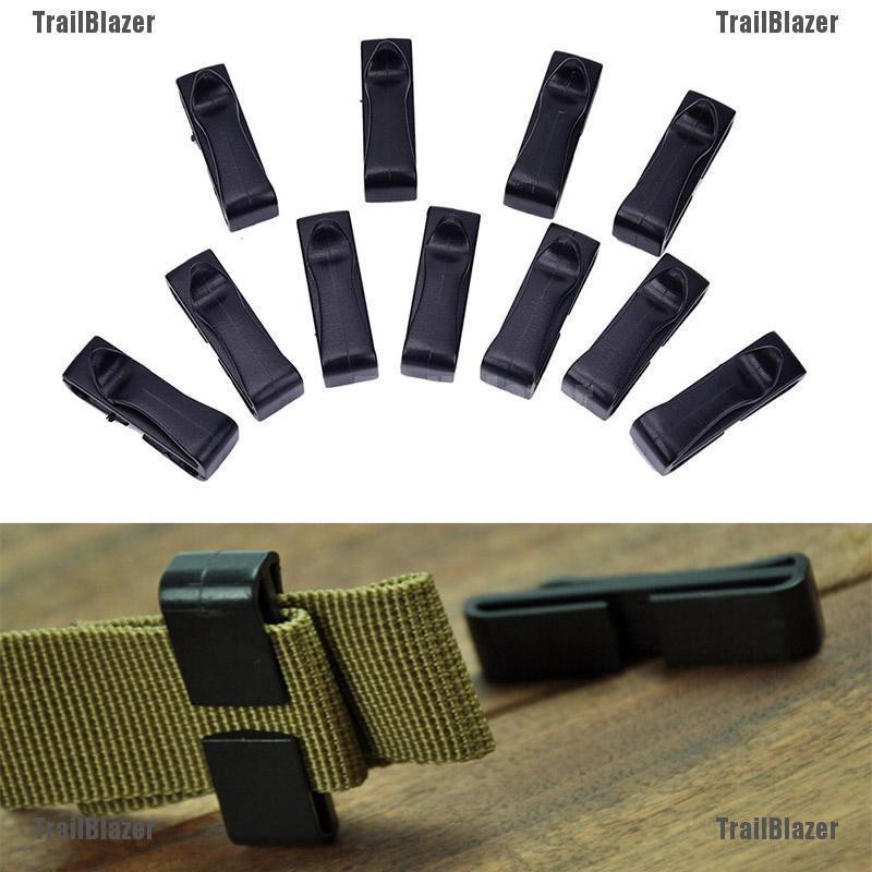Tactical Backpack Buckles Belt end Clip Molle Webbing Buckle Adjust Keeper
