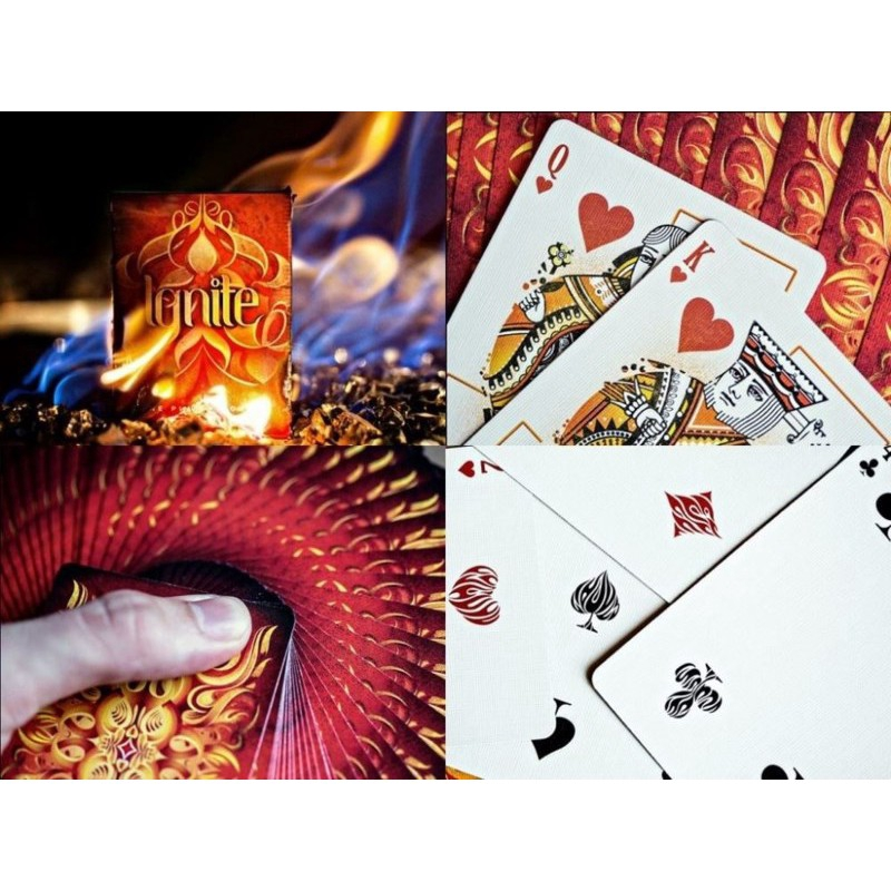 Poker Magic Tricks New Ellusionist Fathom SET of Playing Cards Deck Ignite