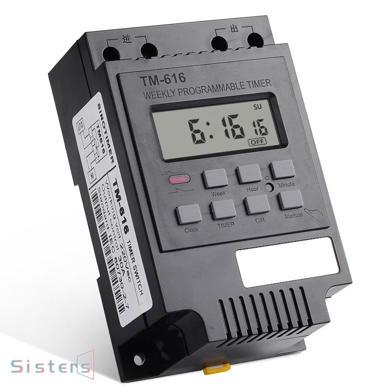 Tm616 Ac220v Digital Lcd Power Programmable Switch 30a Timer Shopee Philippines