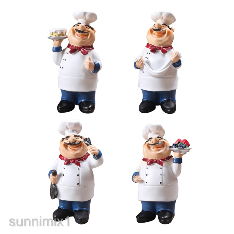 Resin Chef Kitchen Decor Table Centerpiece Figurine Home Collectible Shopee Philippines