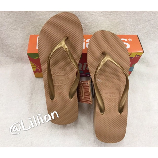 closer at new concept latest design Havaianas wedge slipper for women | Shopee Philippines