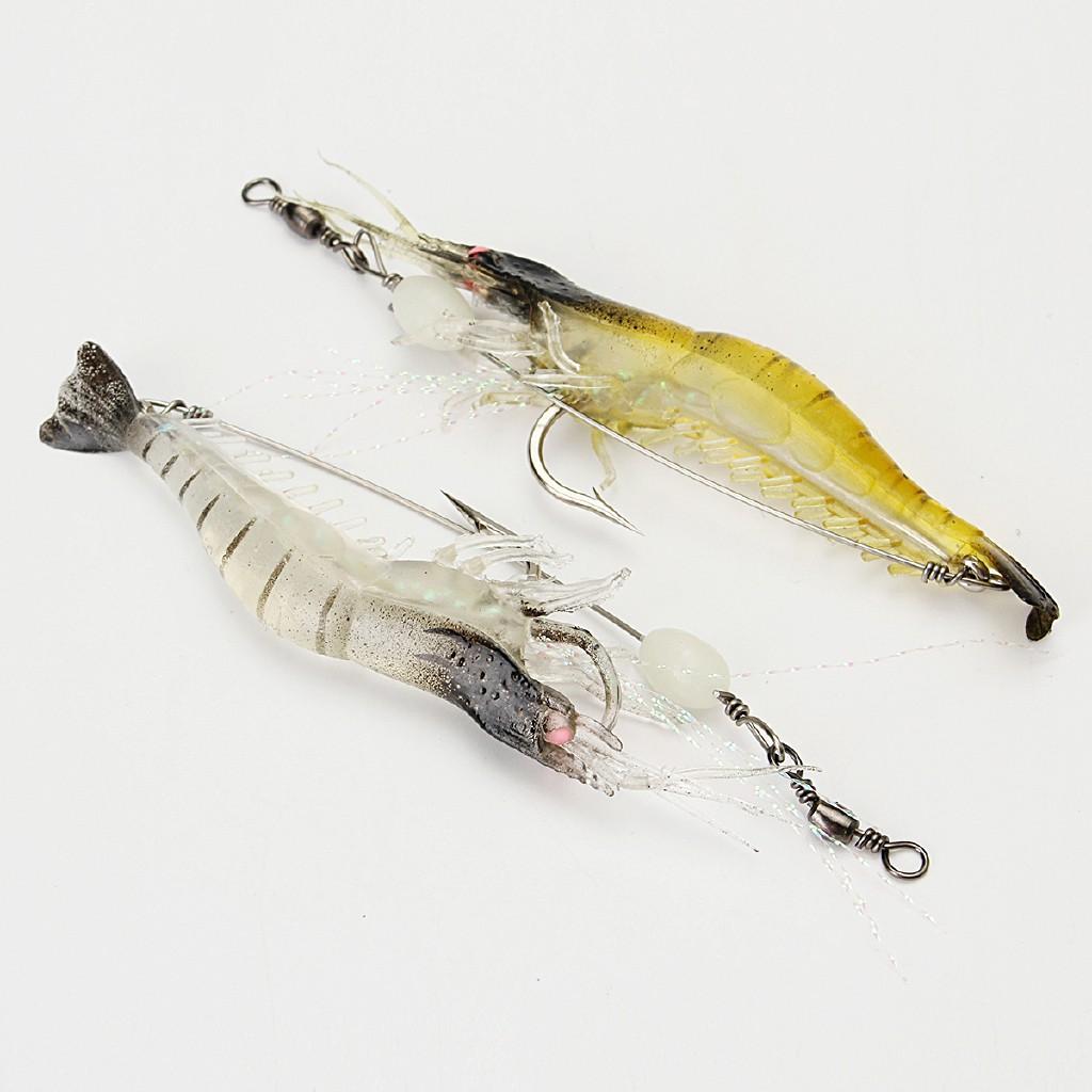 3 Lot Minnow Tackle Fishing Pcs Shrimp Baits Lures Crankbaits Hooks Bait Tackle