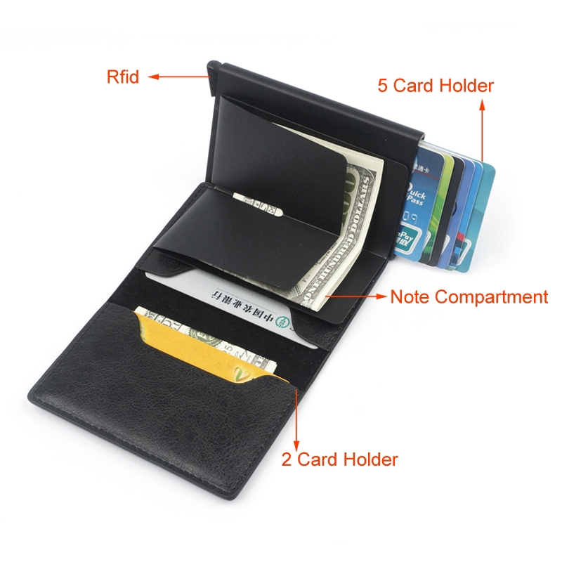 Stainless Steel Slim Money Clip Wallet Hollow V Design Credit Card Wallet Holder
