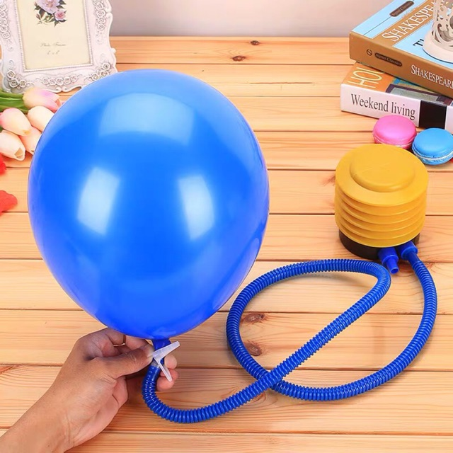Portable Plastic Foot Air Pump Double Gas Nozzle For Balloons Swimming Ring