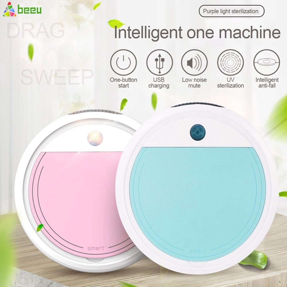 UV Disinfection Smart Sweeping Robot Vacuum Cleaner Floor Auto Suction Sweeper