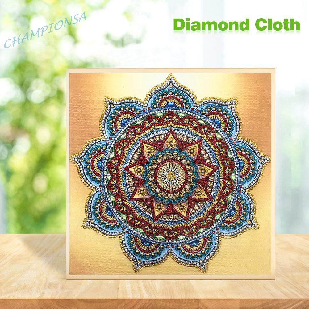 DIY Special Shaped Diamond Painting Mandala Cross Stitch Mosaic Kits Decor Gift
