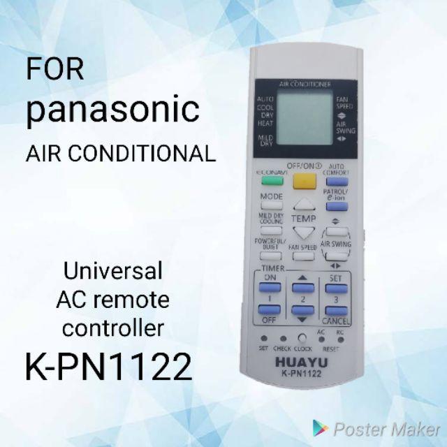 Huayu K-PN1122 Universal Remote Control for Panasonic Aircon / Split Type  Aircon