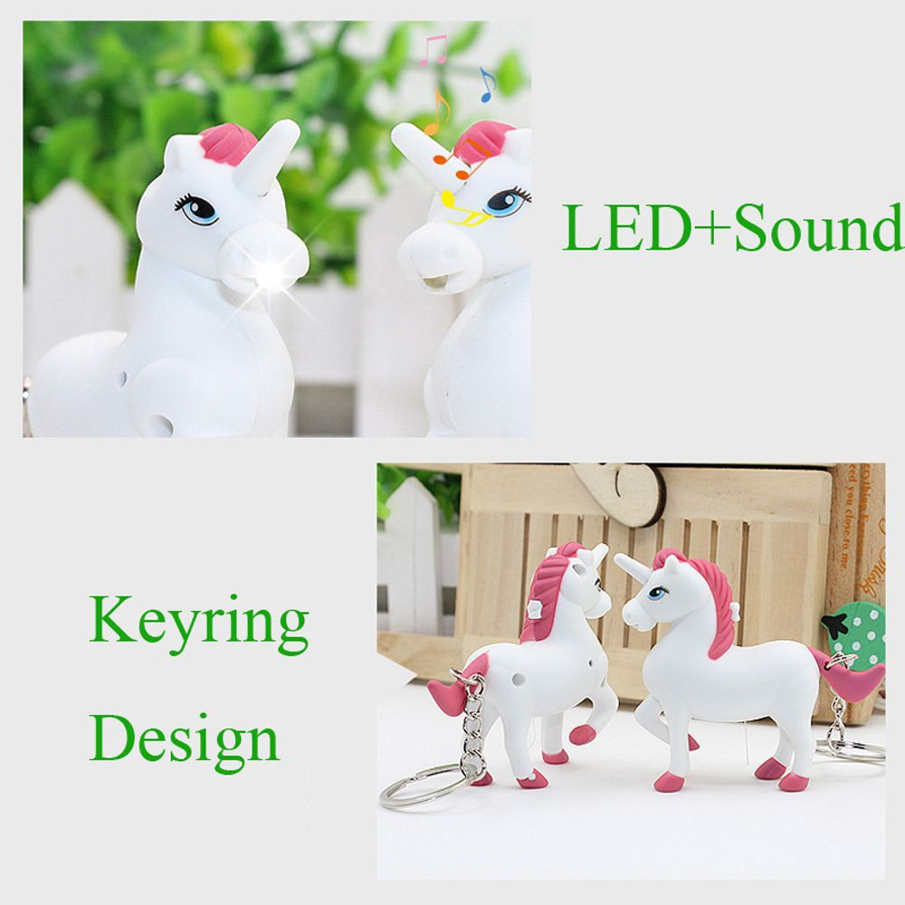 Cute Unicorn Keyring Torch Pocket Torch Perfect For Children Makes a Noise