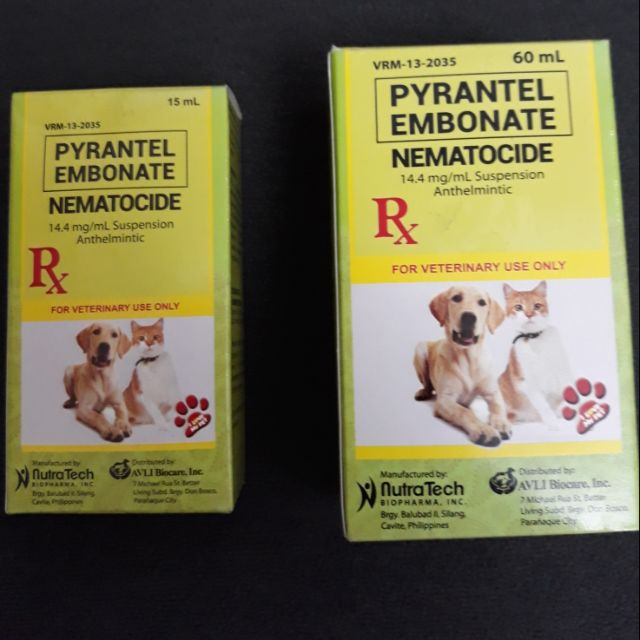Cod Pyrantel Nematocide Dewormer For Dogs And Cats Shopee