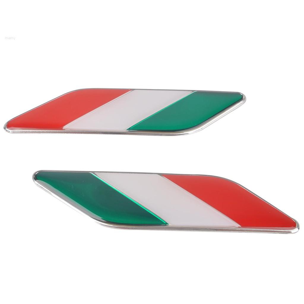 Car Motorcycle Emblem Italy Italian Flag Emblem Badge Decals Sticker Universal