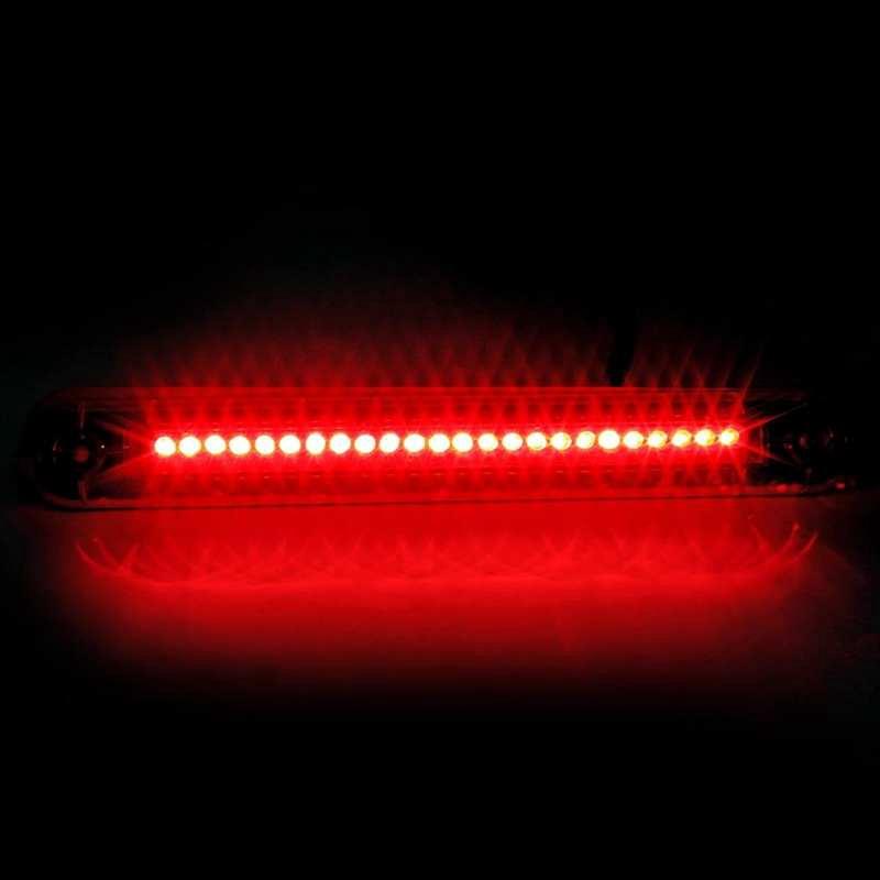 Cuque 1 x Red 40 LED Car Auto Stop Tail Warning Red Light 3rd Brake Light 12V Universal High Mount Brake Light ABS Plastic Strip Light