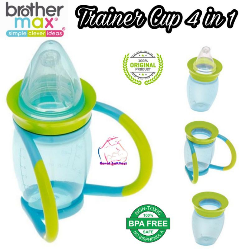BROTHER MAX 4 IN 1 TRAINER CUP - TRAINING CUP MPASI - GELAS BABY