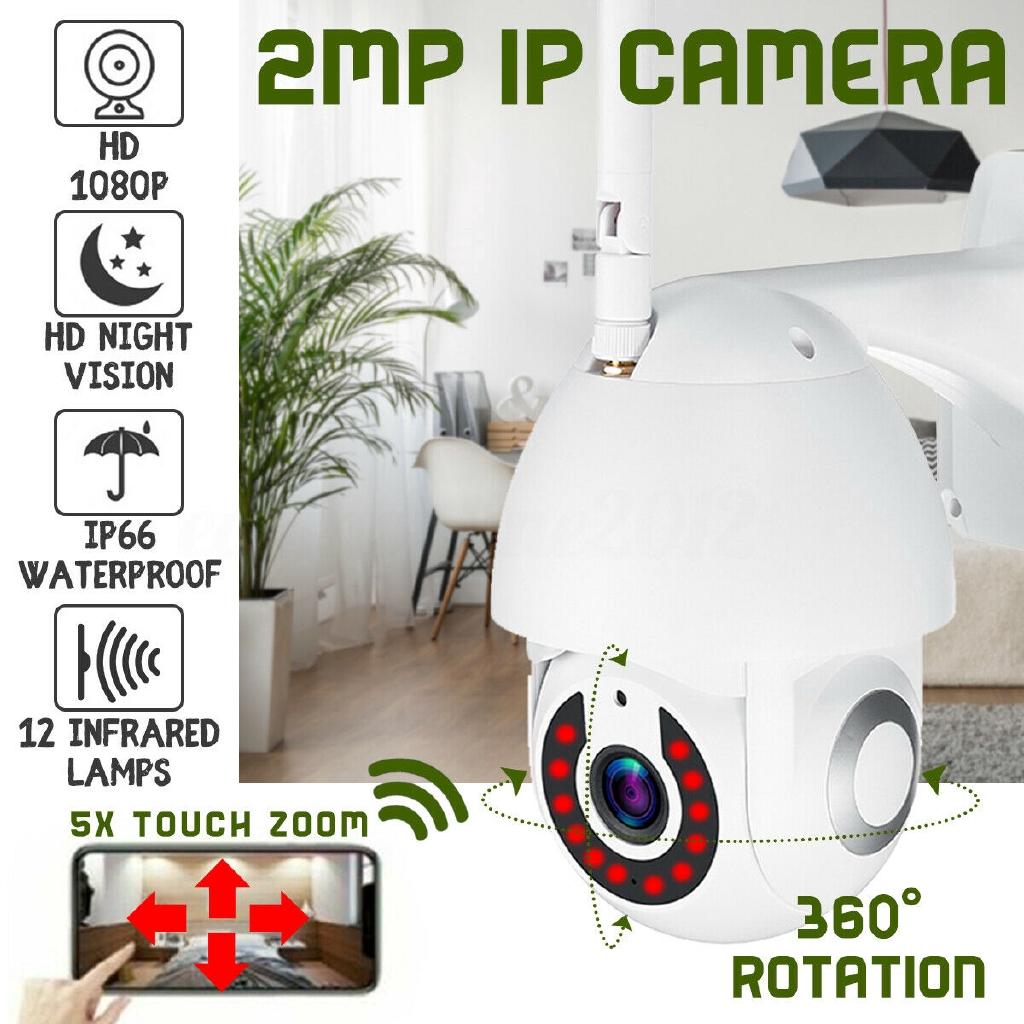 5X Zoom Waterproof WiFi PTZ Pan Tilt HD 1080P Security IP IR Camera Night Vision